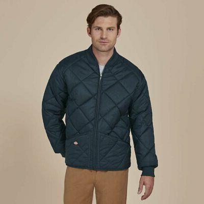 dickies men s diamond quilted nylon jacket