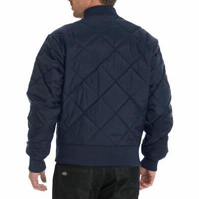 Dickies Men's Diamond Quilted Nylon Jacket Navy -