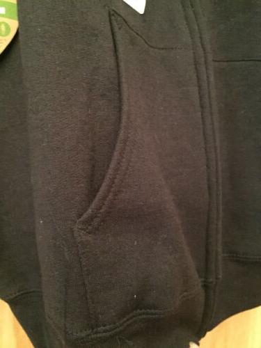 Hanes Black ZipUp Hooded SweatShirt, Hooded