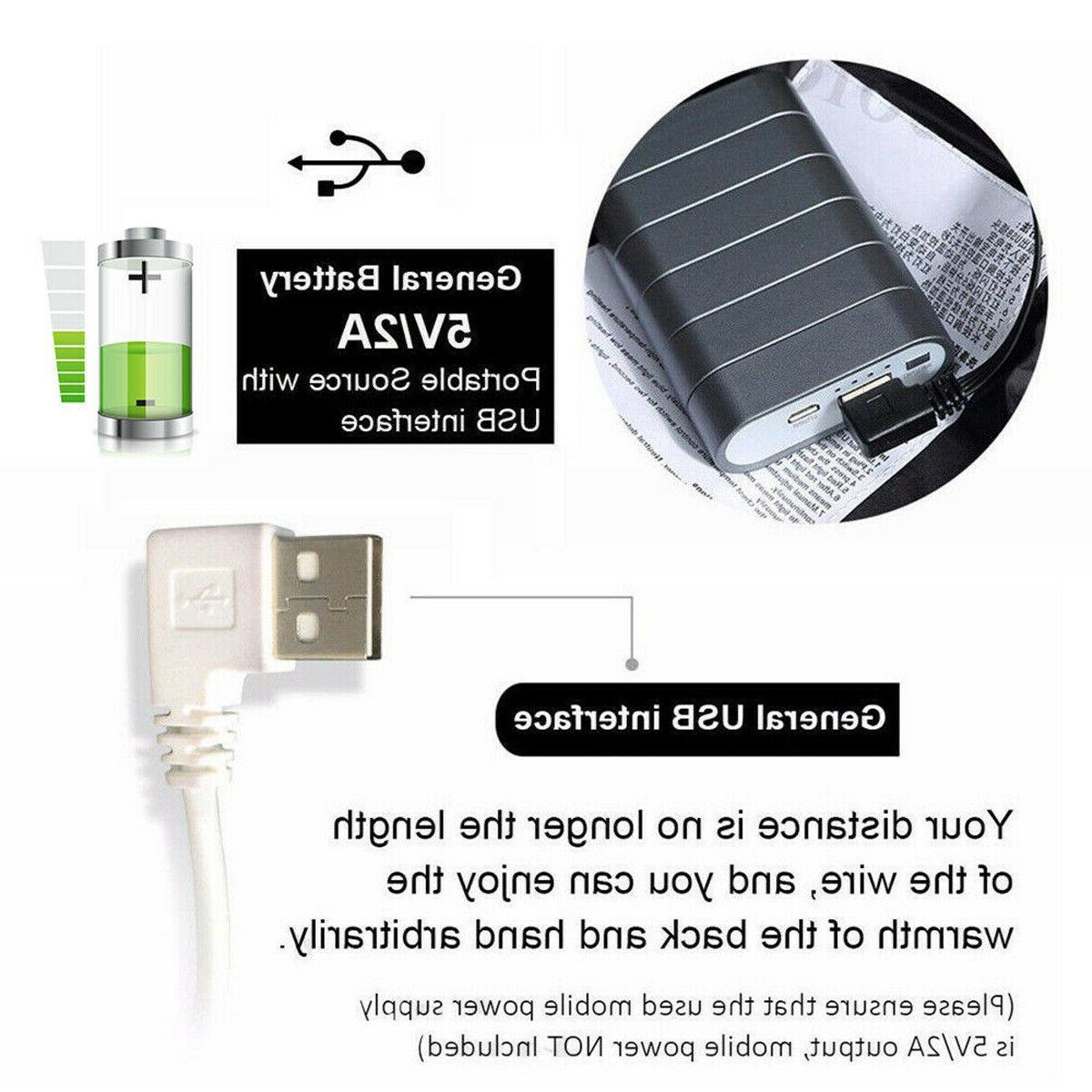 Electric USB Jacket Coat Warm Up Heating Warmer