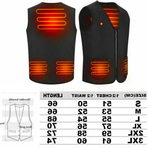Electric Winter Warm Vest Heating Coat Clothing