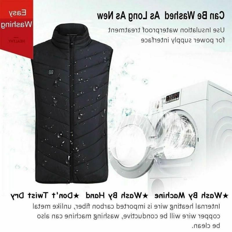 Electric Vest Jacket Heating Body Warmer