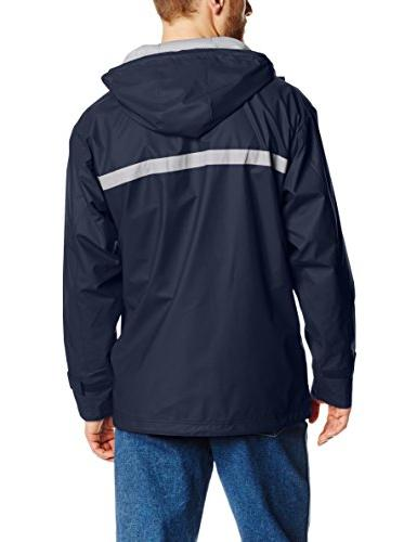 Charles Men's New Waterproof Rain Jacket Navy/Grey, XL