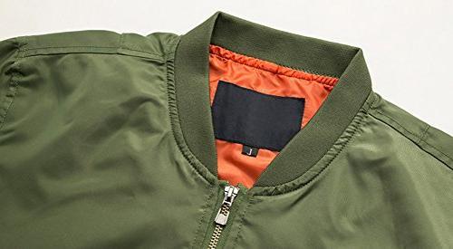 chouyatou Men's Essential Zipper Softshell Bomber Jacket