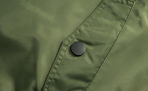 chouyatou Zipper Front Softshell Bomber Jacket