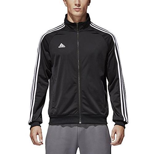 74518ebdf7ac6 adidas Tricot Jacket, Black/White, Large. Tricot Track Large. adidas 3-Stripe  Tricot Large