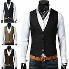 Fashion Men's Formal Casual Dress Vest Tie Suit Slim Fit Tux