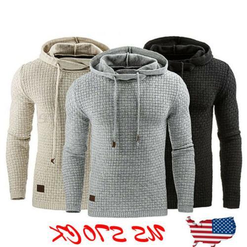 Fashion Men's Hoodie Warm Hooded Sweatshirt Coat Jacket Outw