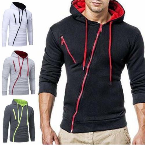 Fashion Men's Winter Hoodies Warm Hooded Sweatshirts Coat Ja