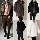 Fashion Mens Winter Warm Faux Fur Jacket Parka Coat Short/Lo