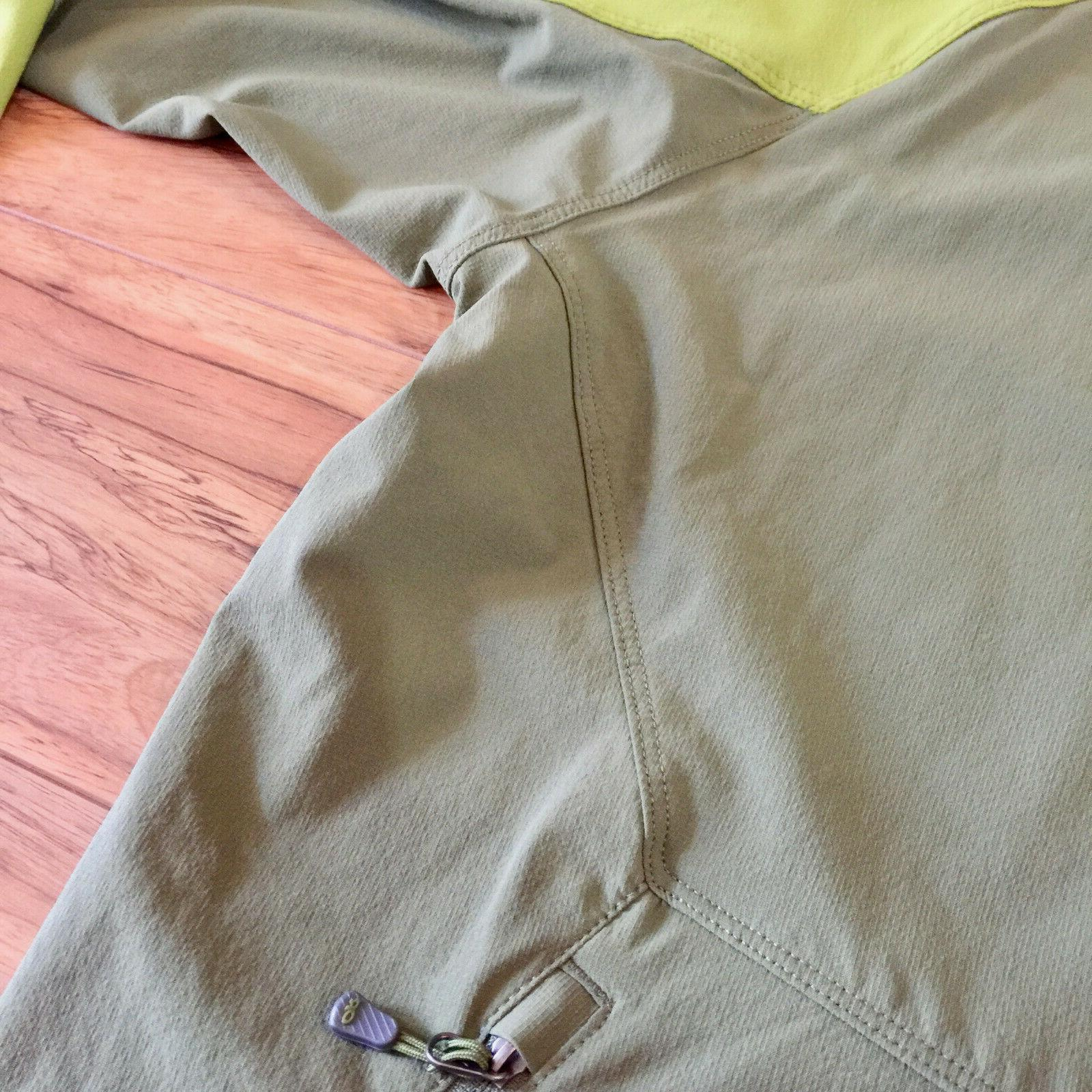 Outdoor Hooded Jacket Stretchy Medium, Green,