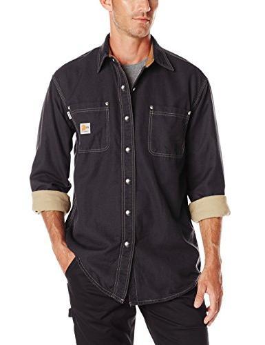 flame resistant canvas shirt jacket