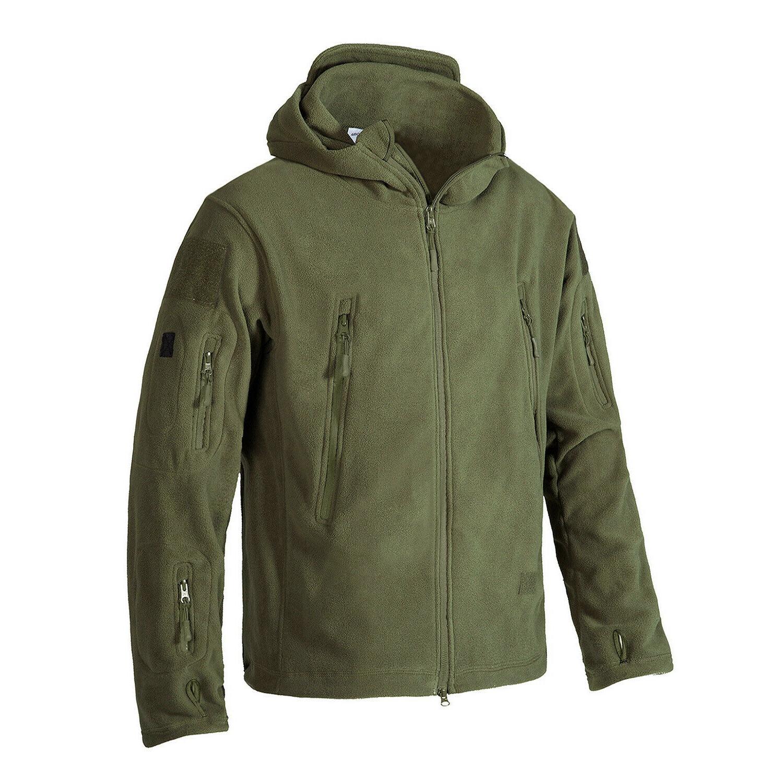 Fleece Mens Jackets Military Tactical Coats Up