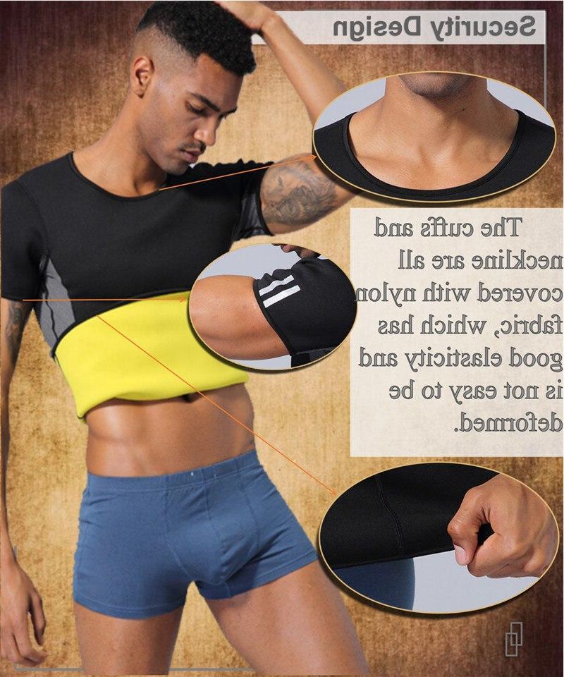 NINGMI <font><b>Mens</b></font> Shaper Trainer Sports Vest Modeling Shirts