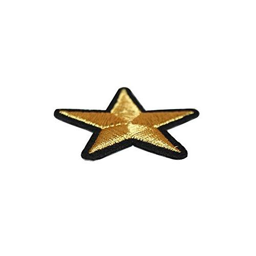 20Pack 3.6cm Gold Patches or Sew on Badge Motif Applique Sticker T-shirt