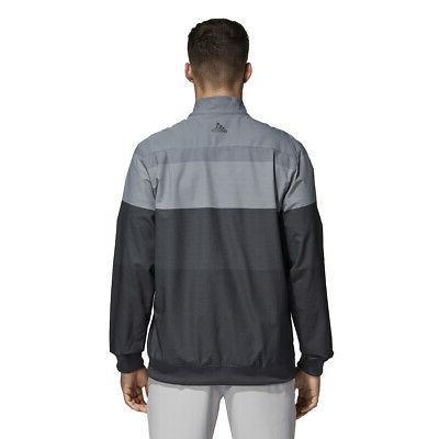Adidas Golf Half Pullover Jacket - Carbon Pick Size