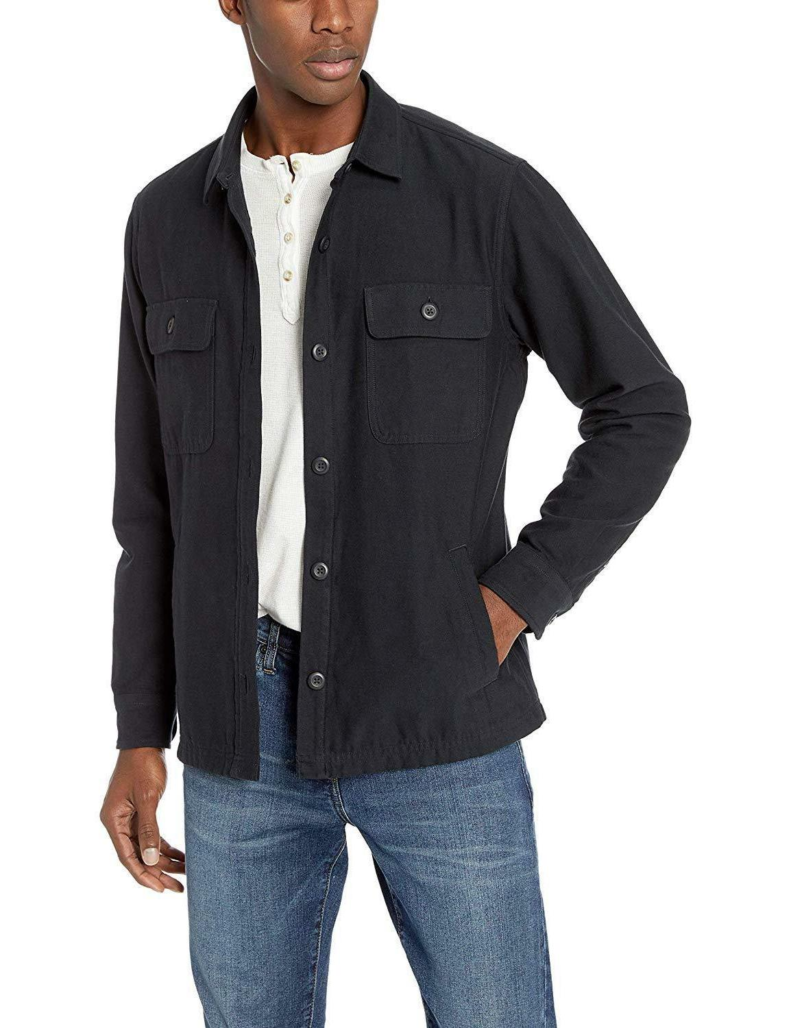 Goodthreads Men's Military Twill Shirt Jacket