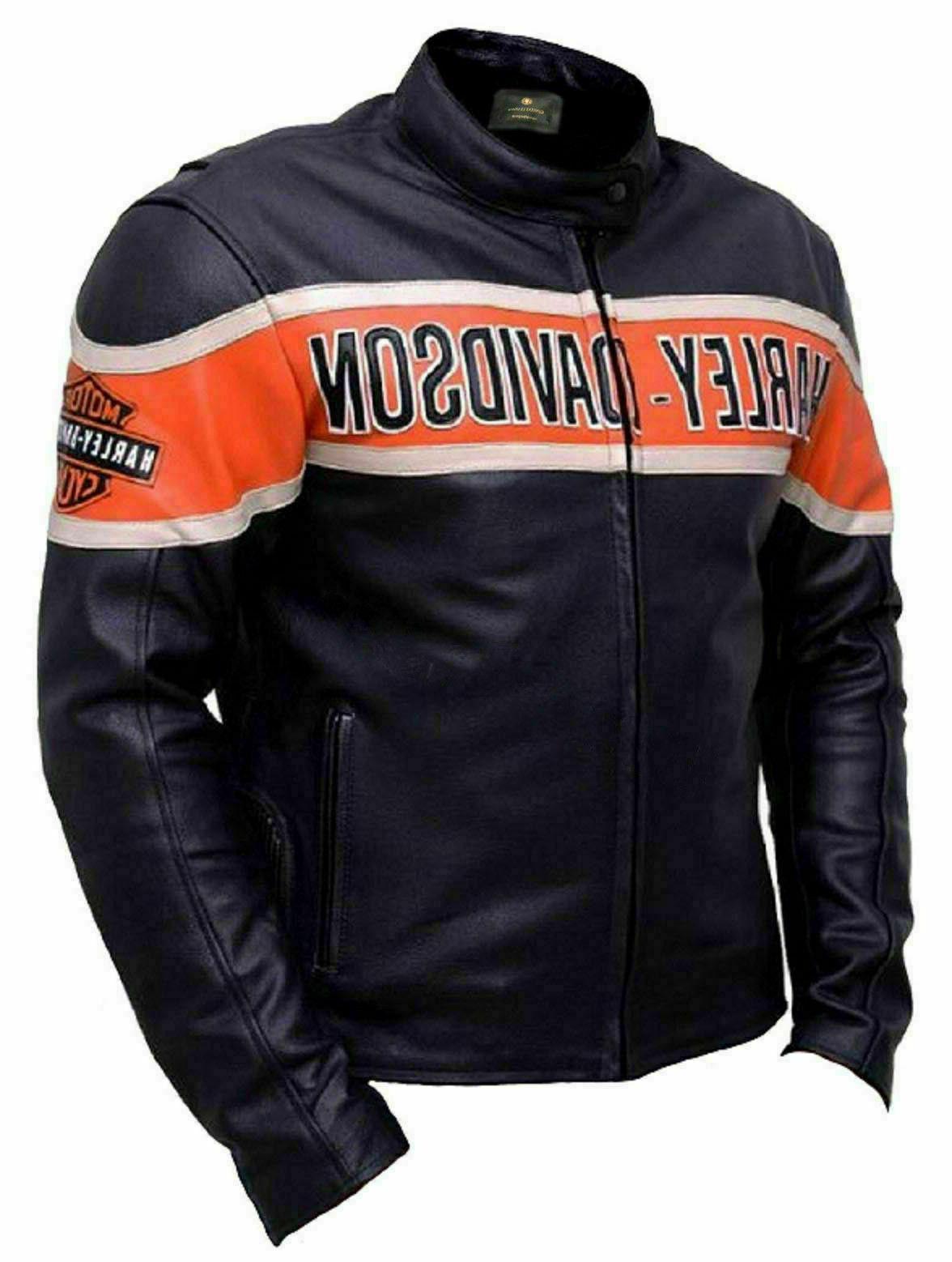 Harley Davidson Motorcycle Cow-Hide Jacket