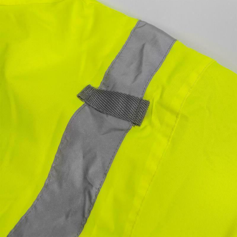 Hi-Vis Safety Jacket Neon Reflective Resistant Road Coat