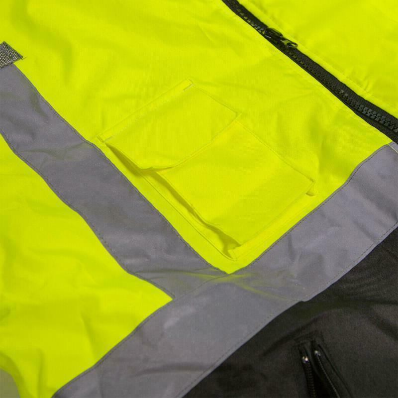 Hi-Vis Jacket Neon Weather Resistant Coat