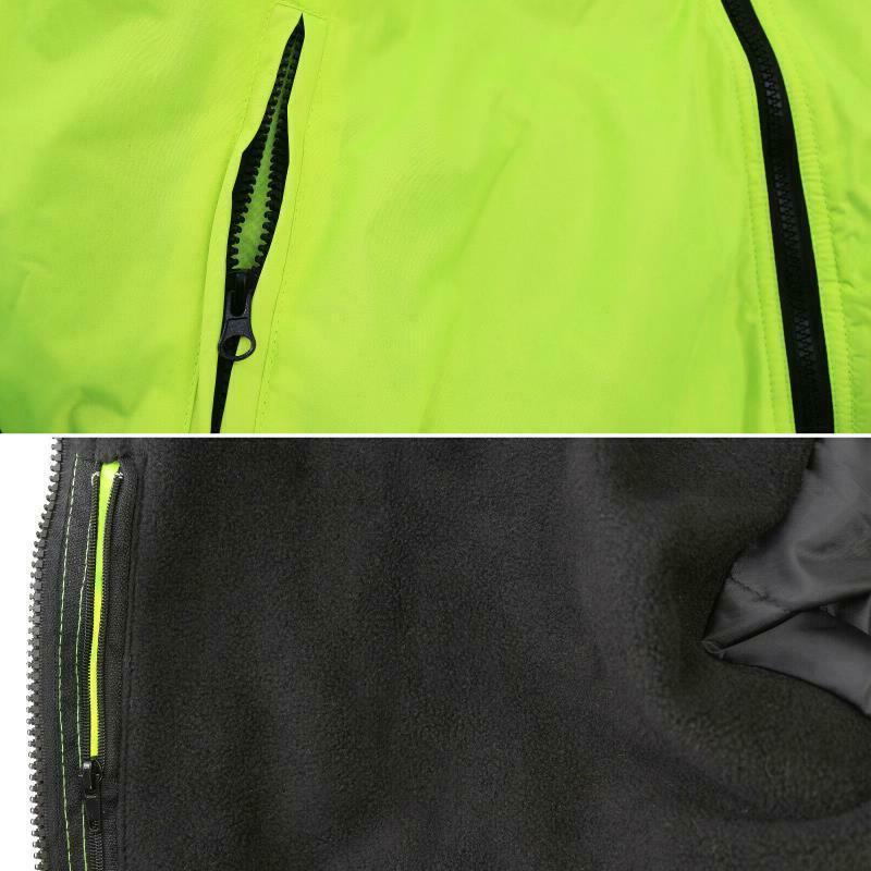 Hi-Vis 3 Jacket Neon Resistant Coat Bomber