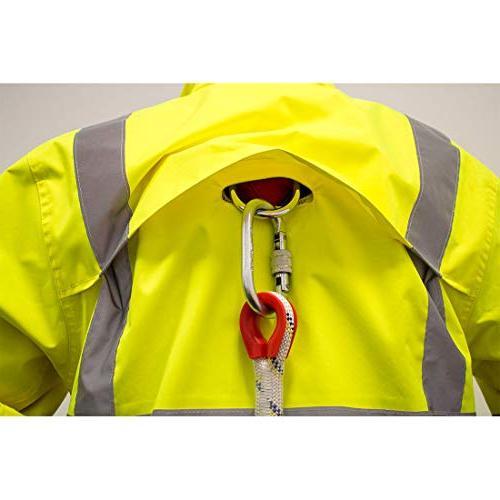 Portwest Hi-Vis Rain Jacket Safety Visability Work Wear Rain ANSI