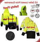 Hi Vis Insulated Safety Bomber Reflective Jacket Road Work H