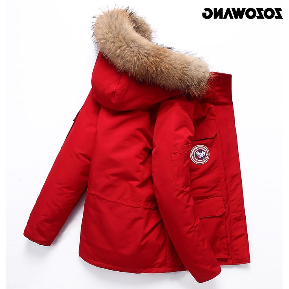 High Quality -40Celsius <font><b>Jacket</b></font> Keep <font><b>Men's</b></font> Winter Thick Snow Overcoat Black Duck Fashion