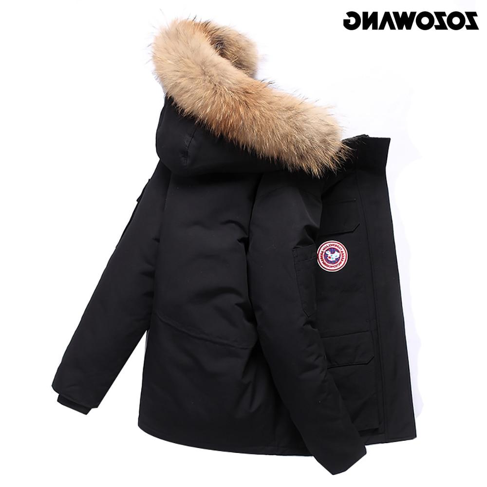 High Quality -40Celsius <font><b>Jacket</b></font> Winter Thick Snow Overcoat White Duck