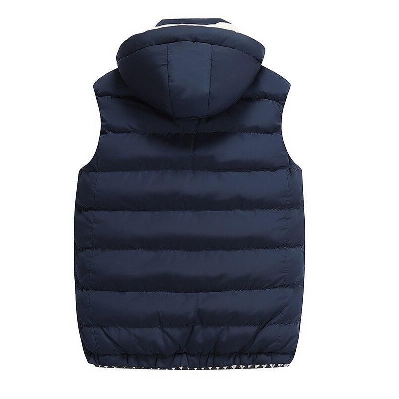 Hooded <font><b>Men</b></font> Winter Fleece Vest Thick <font><b>Soft</b></font> Sleeveless