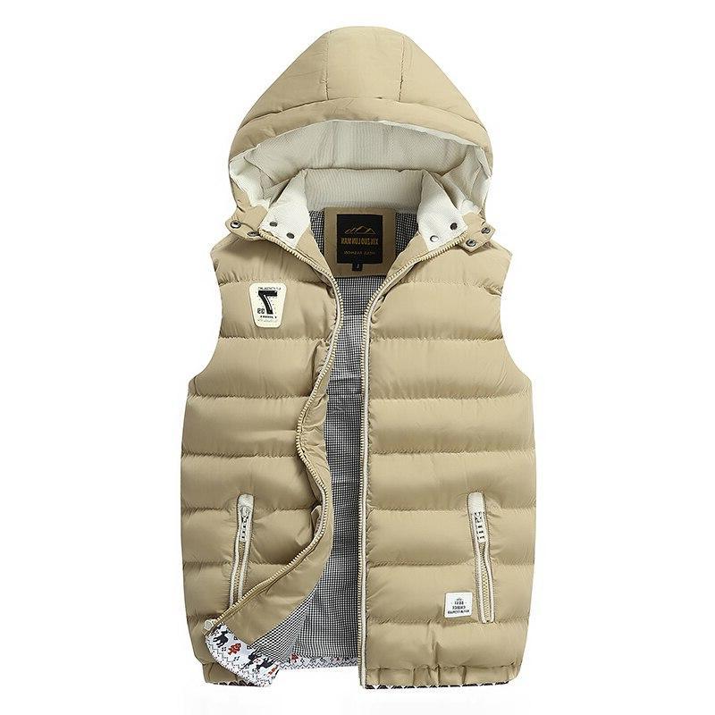 Hooded Fleece Warm Waistcoat Sleeveless <font><b>Jacket</b></font>