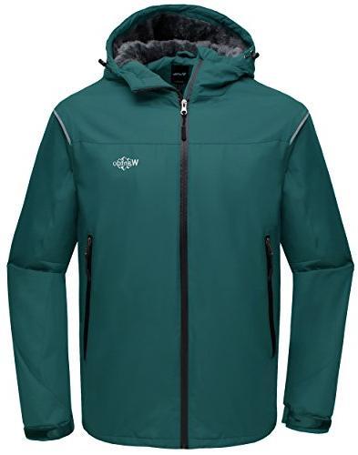 hooded waterproof rain jacket fleece