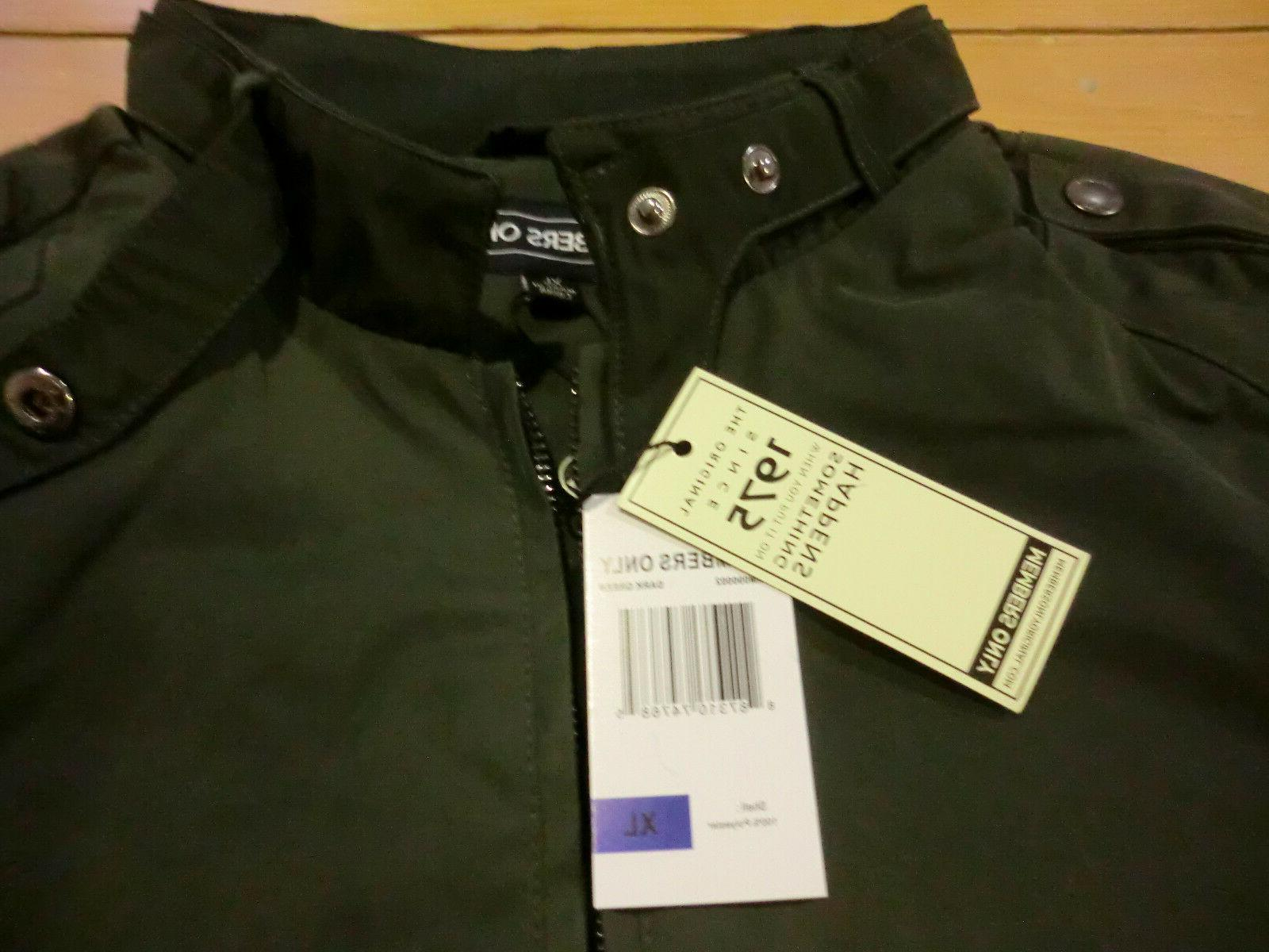 Members Only Iconic Racer Jacket - Mens + - Green Insulated