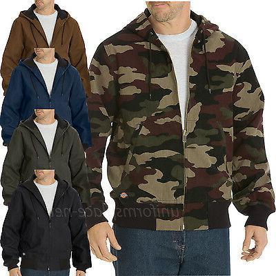 Dickies Jacket Men Sanded Duck Thermal Lined Hooded Jackets