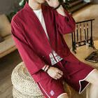 Japanese Men Kimono Jacket Casual Coat Cardigan Outerwear To