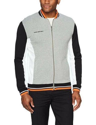 jeans zip athletic jacket block