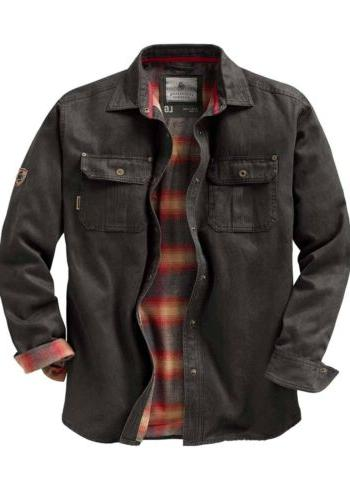 Legendary Whitetails Mens Journeyman Shirt Jacket Tarmac Fla