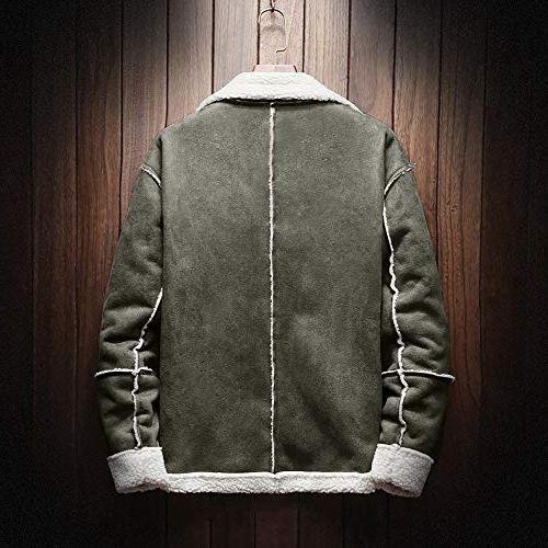 Button Outwear Shearling Long Jacket
