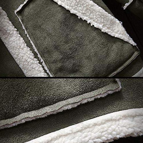 kemilove Men's Winter Button Long Jacket