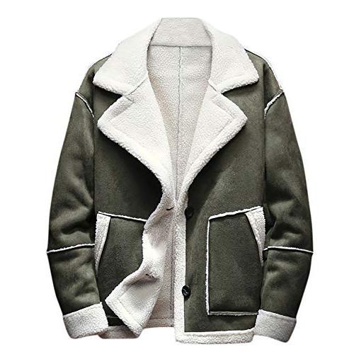 kemilove men winter jacket button