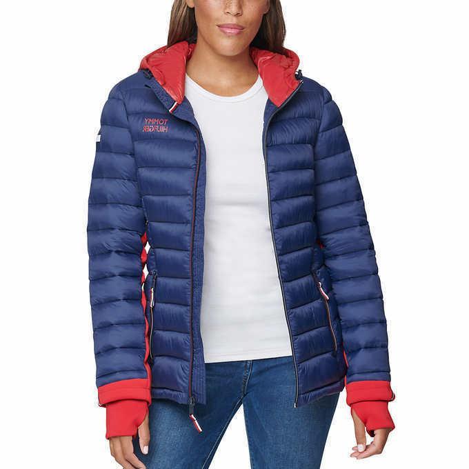ladies packable jacket blue select size xs