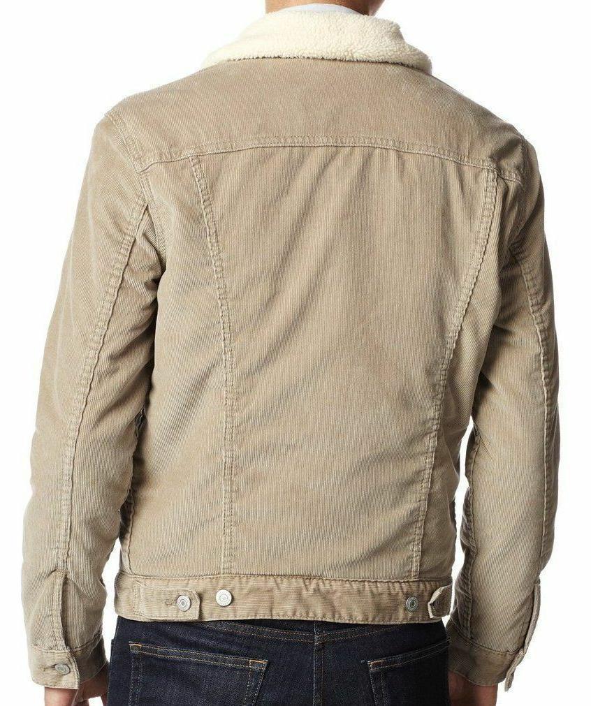 Levi's Corduroy Sherpa Fleece Jacket Cream 705980018