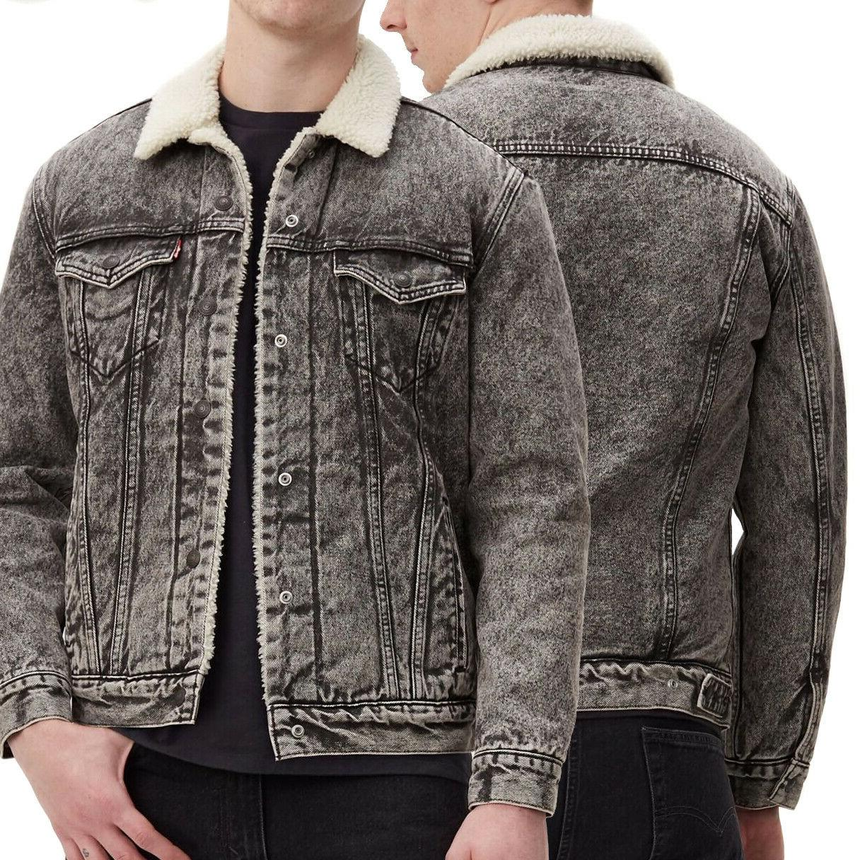 levi s men s cotton sherpa lined