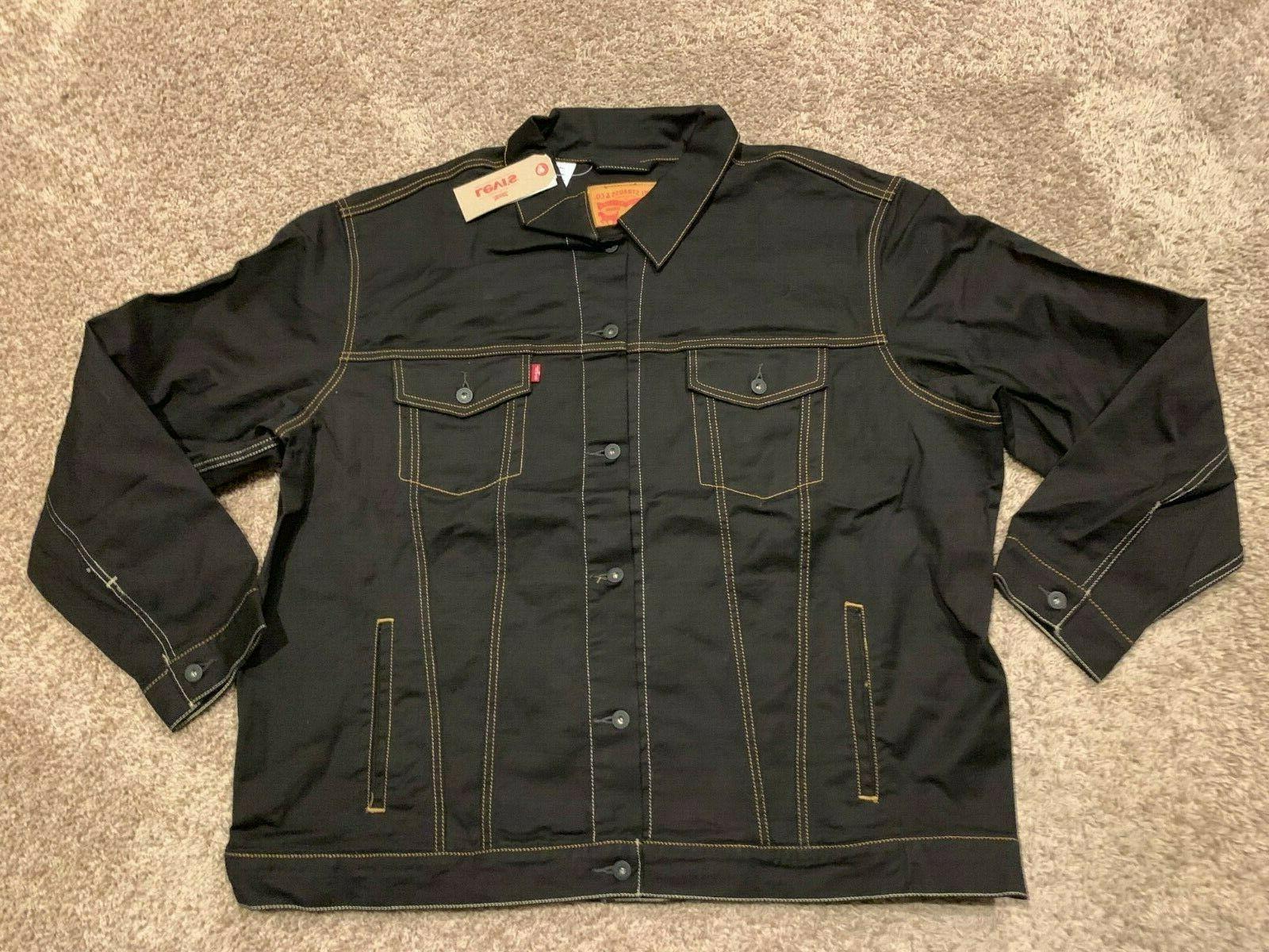 levi s trucker jacket black big