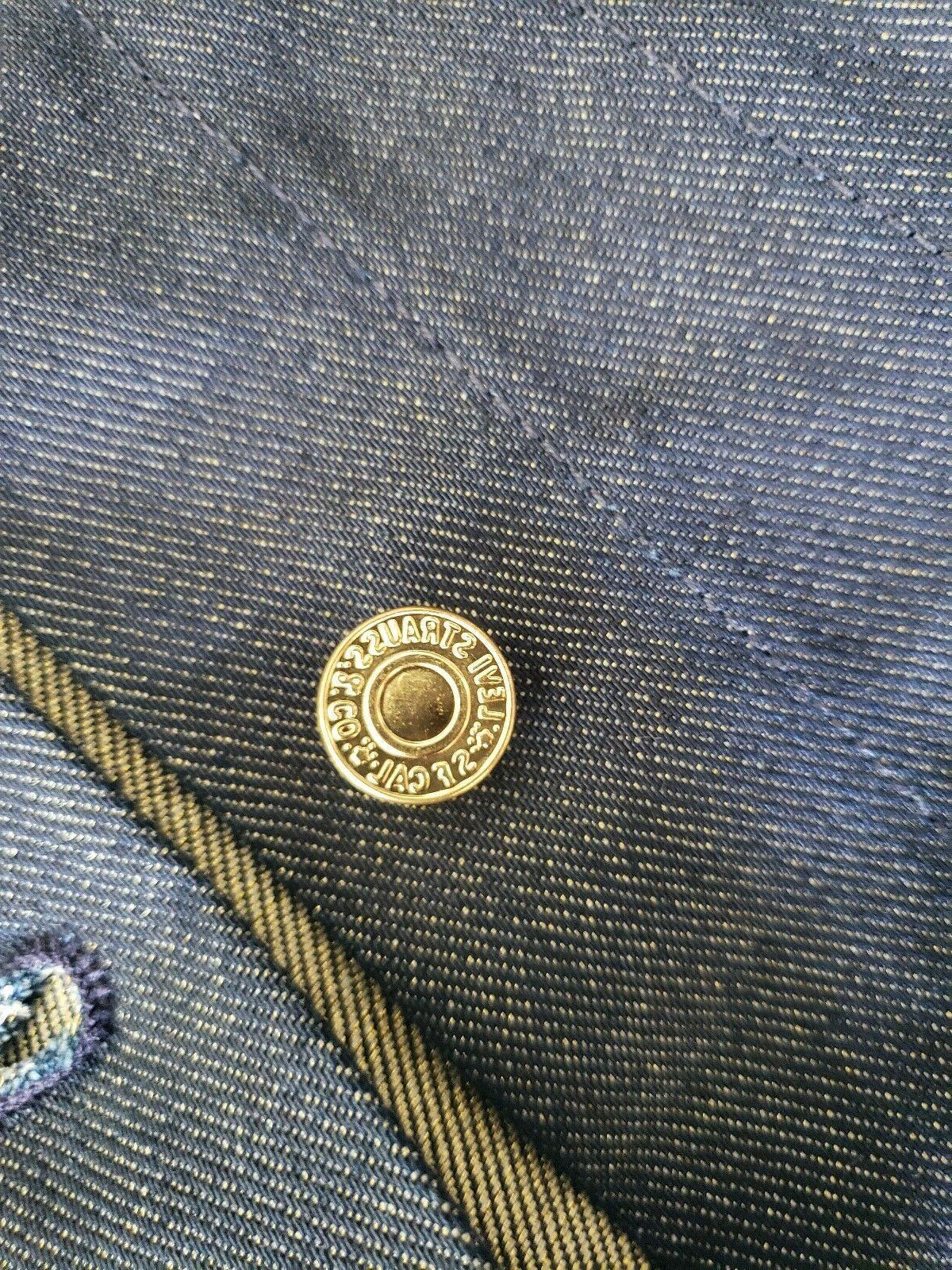 Levi's Jacket Unwashed Stiff Gold Weft Men XLARGE