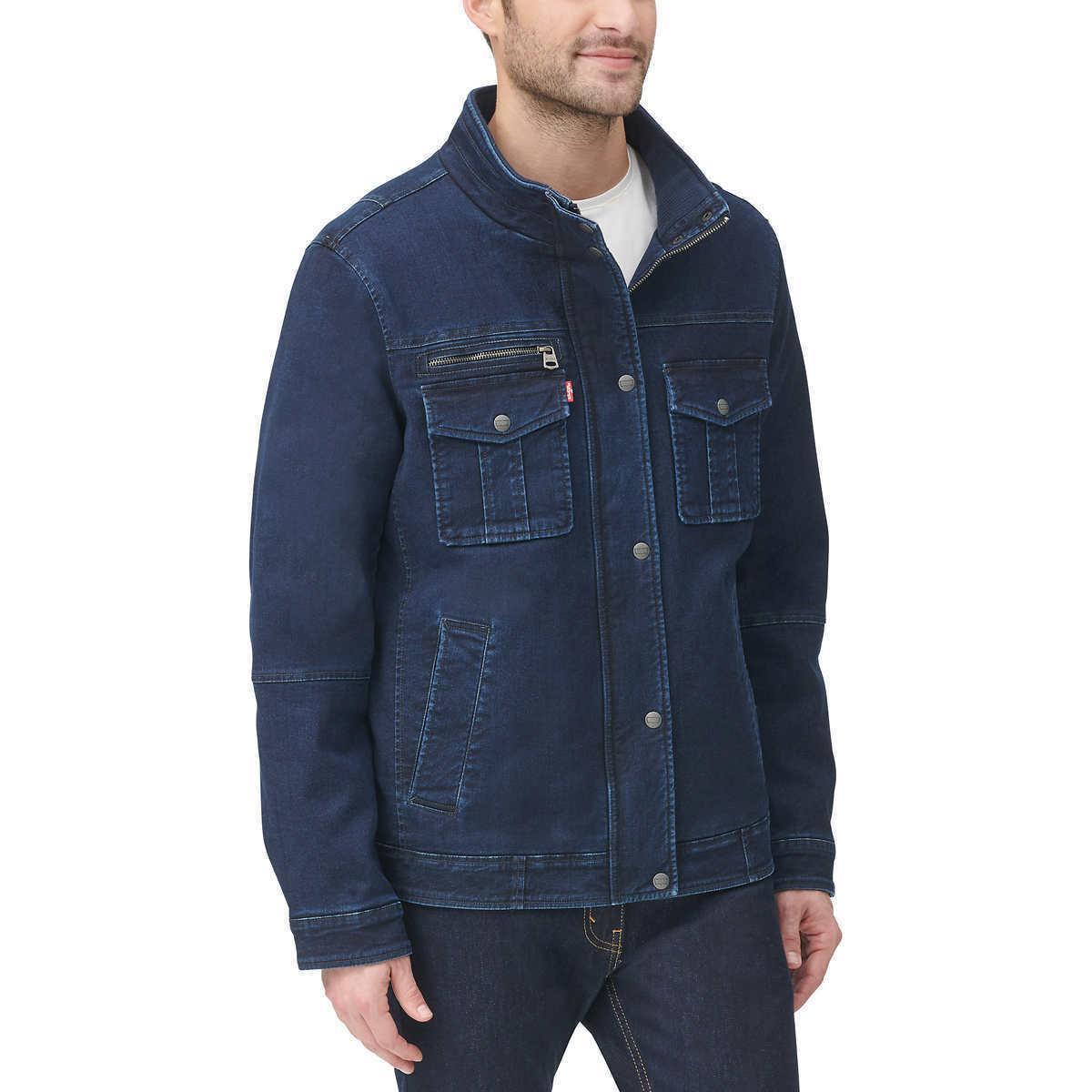 Levi's Stretch Twill Jacket ,Blue/Navy Size: XL