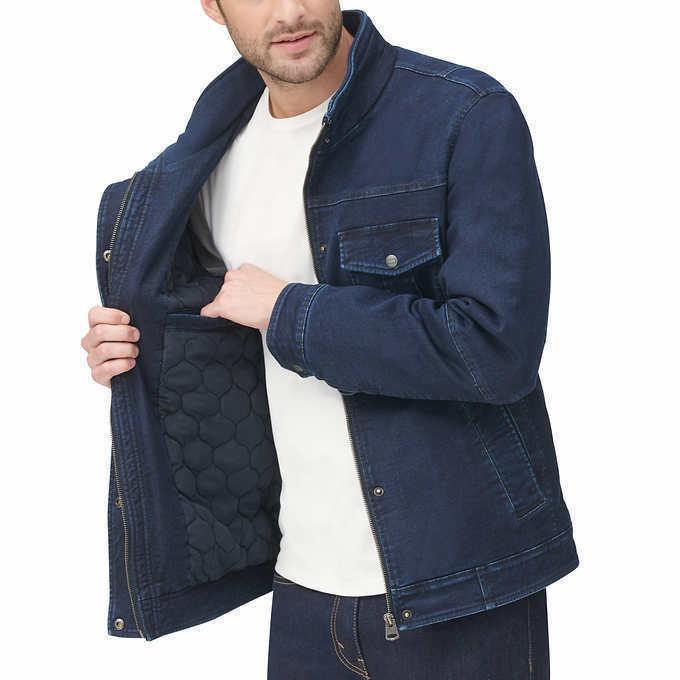 levis mens stretch twill jacket blue navy