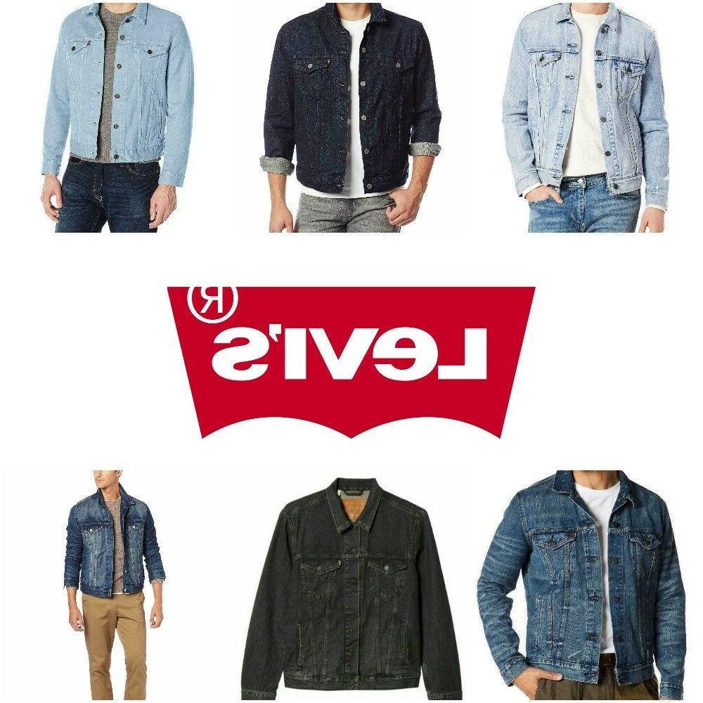 levis trucker jacket denim men s button