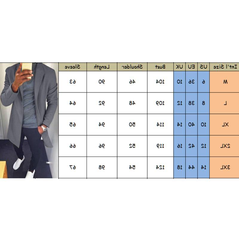 M-XXXL Autumn <font><b>Men</b></font> Casual Coat Trench Male Solid Overcoat <font><b>Medium</b></font> Long <font><b>Jackets</b></font> Tops
