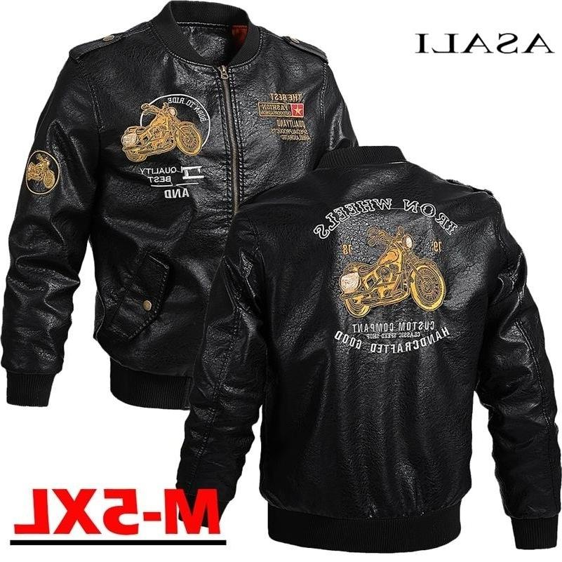 male leather font b jacket b font